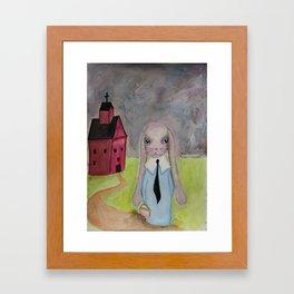 School House Rabbit Framed Art Print