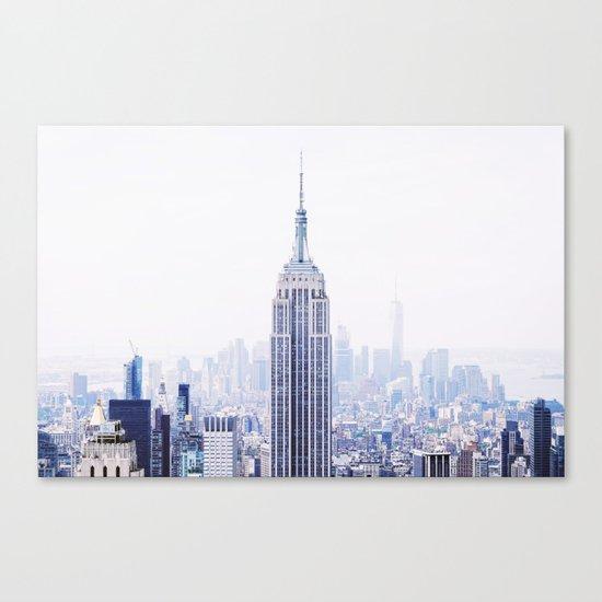 New York City - Manhattan Cityscape - Empire State Building Photograph Canvas Print