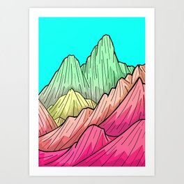 Candy Colour Mounts Art Print