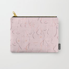 Breasts in Millennial Pink Carry-All Pouch