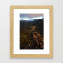 Crater 3 Framed Art Print