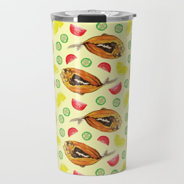 Milkfish Pattern Travel Mug