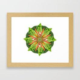 vegan mandala Framed Art Print