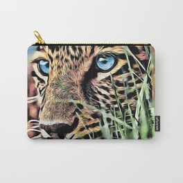 Leopard Panthera Digital Painting Carry-All Pouch