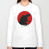 godzilla Long Sleeve T-shirts featuring Godzilla by 100rings