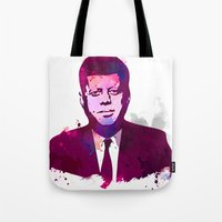 jfk Tote Bags featuring JFK by BIG Colours
