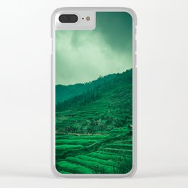 Terraced Rice Fields in the North of Vietnam. Nature Landscape Photography. Clear iPhone Case