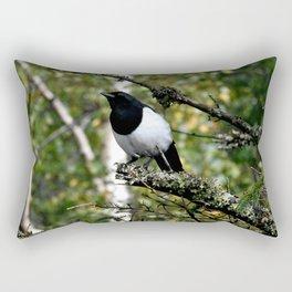 Eurasian Magpie Rectangular Pillow