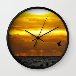 Good Morning Gull Wall Clock