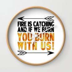 Fire is Catching! Wall Clock
