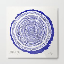 Douglas Fir – Navy Metal Print