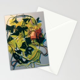 Yellow Jacket Heart- Fantasy Abstract  Stationery Cards