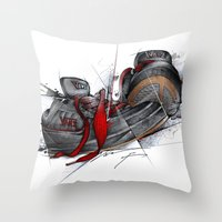 vans Throw Pillows featuring VANS by alexviveros.net