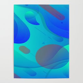 Purple Blue And Green Abstract Design Poster