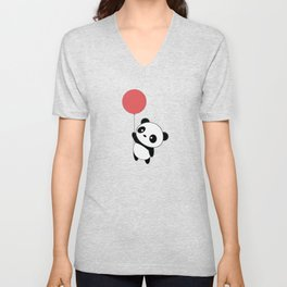 Kawaii Cute Panda Flying Unisex V-Neck