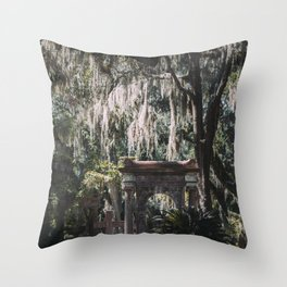 Bonaventure Cemetery, Savannah, Georgia Throw Pillow