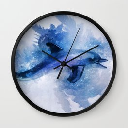 Dolphins Freedom Wall Clock