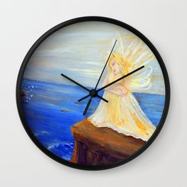 Invite your Angel | Angels are here Wall Clock