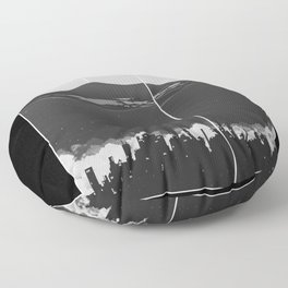 City Abstract Floor Pillow