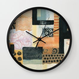 Urban Quilt II Wall Clock