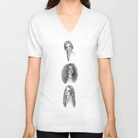 hermione V-neck T-shirts featuring Ginny, Hermione & Luna by Susanne