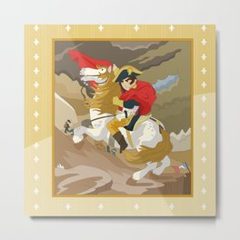 Napoleon Crossing the Alps by  Jacques-Louis David  Metal Print