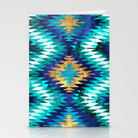 Inverted Navajo Suns Stationery Cards