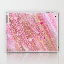 Pink Acrlyic Pour Laptop & iPad Skin
