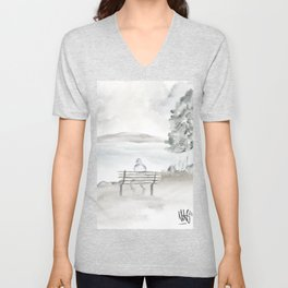 Seaside Solitude Unisex V-Neck