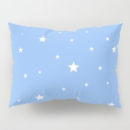 Scattered Stars on Sky Blue Pillow Sham
