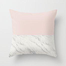 Moon Marble Throw Pillow