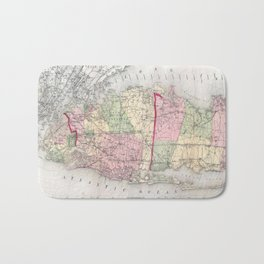 Vintage Map of Long Island New York (1873) Bath Mat