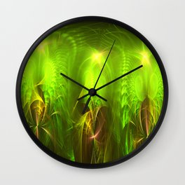 Fractal Angels Wall Clock