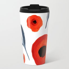 Red Poppies Specimen Travel Mug