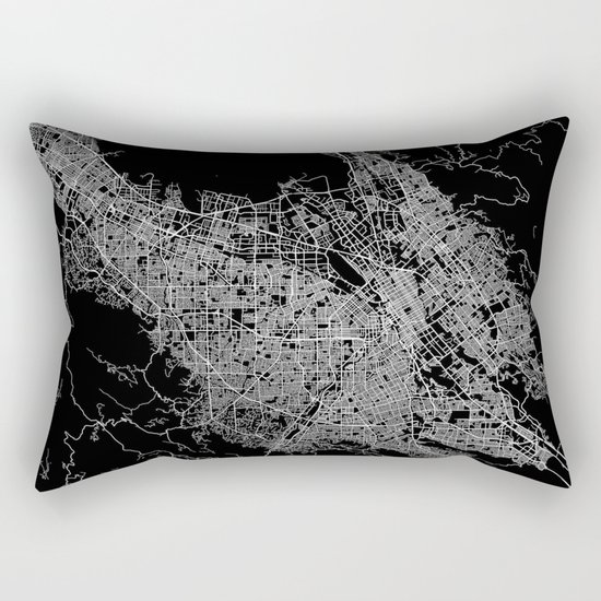 san jose map Rectangular Pillow