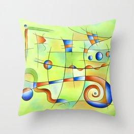 Frenesia - mad world Throw Pillow