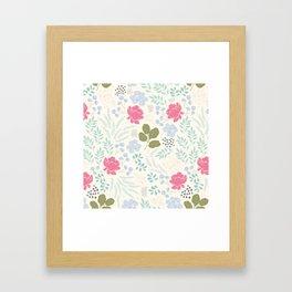 Ella Floral Pattern Framed Art Print