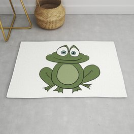 Froggy Frog - Cute Kids Bedroom/Bathroom Art Rug