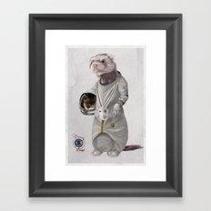 Ferreting in Space Framed Art Print
