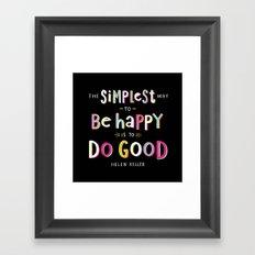 Do Good Framed Art Print