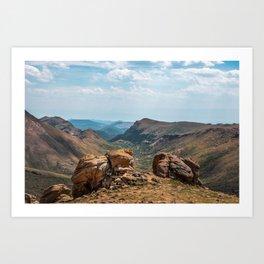 Pikes Peak Landscape Art Print