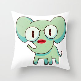 smart elephant  Throw Pillow