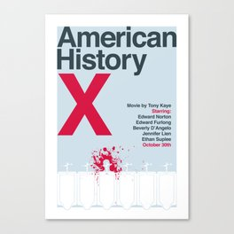 American History X Spoiler Poster Canvas Print