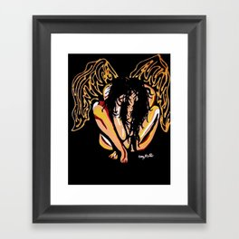 External scars Framed Art Print