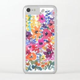 Bright Summer Garden Clear iPhone Case