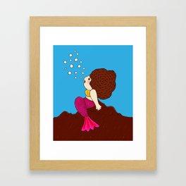 Bubbles are fun Framed Art Print