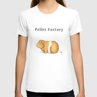 guinea pig T-shirts featuring Pellet Factory - Guinea Pig Poop by When Guinea Pigs Fly