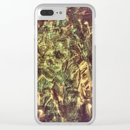 Twisted Denim Clear iPhone Case