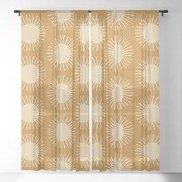 Golden Sun Pattern II Sheer Curtain