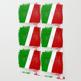 Italian Distressed Halftone Denim Flag Wallpaper